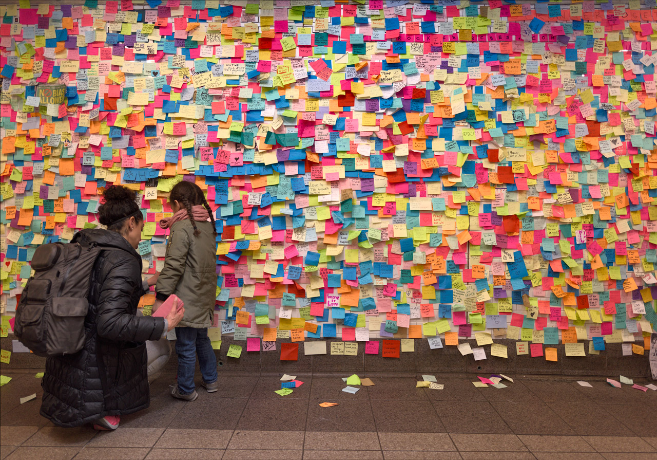 The Union Square Grief Wall